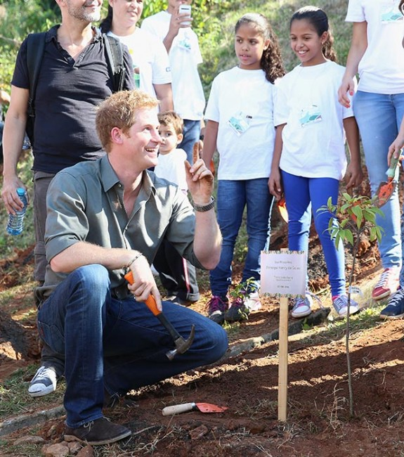 Prince Harry plants trees Brazil