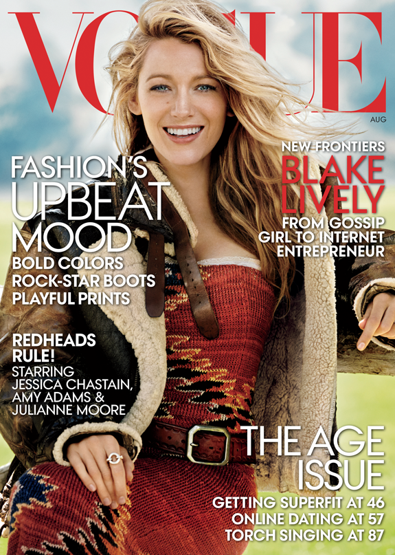Blake Lively Vogue cover August issue