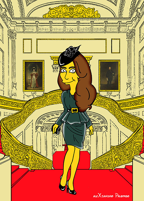 Duchess Kate Simpsons cartoon