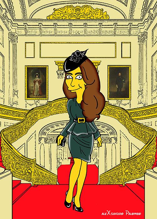 Duchess Kate Simpsons cartoon