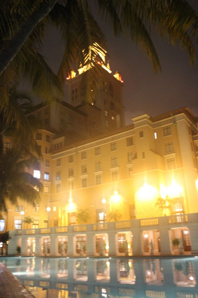 Biltmore Hotel Coral Gables pool at night