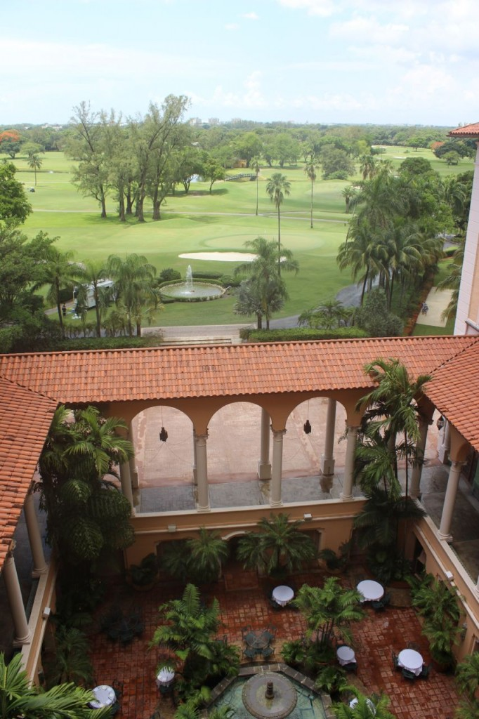 Biltmore Hotel Miami balcony view