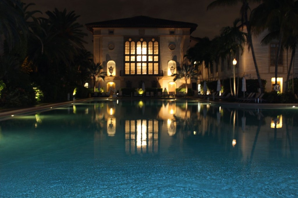Biltmore Hotel Miami pool at night