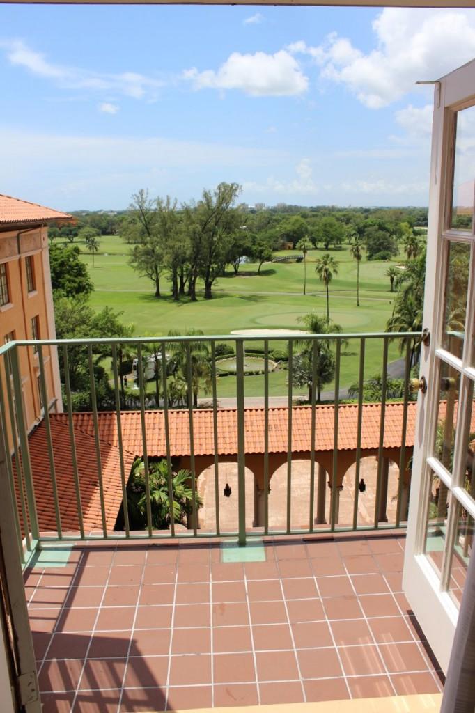 Biltmore Hotel balcony view