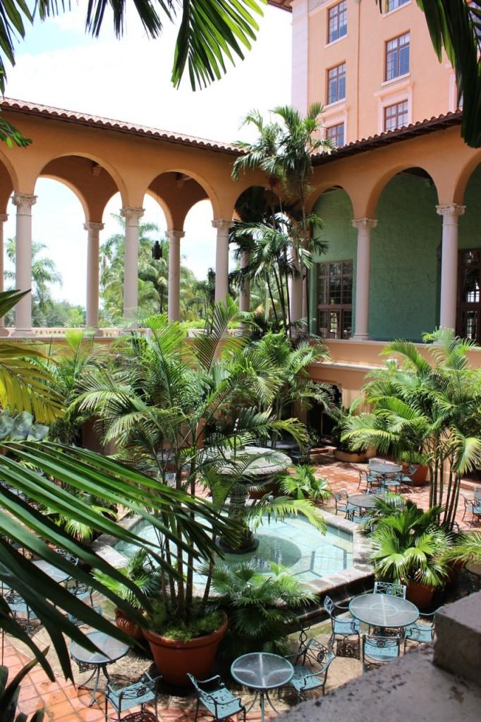 Biltmore Hotel lobby patio