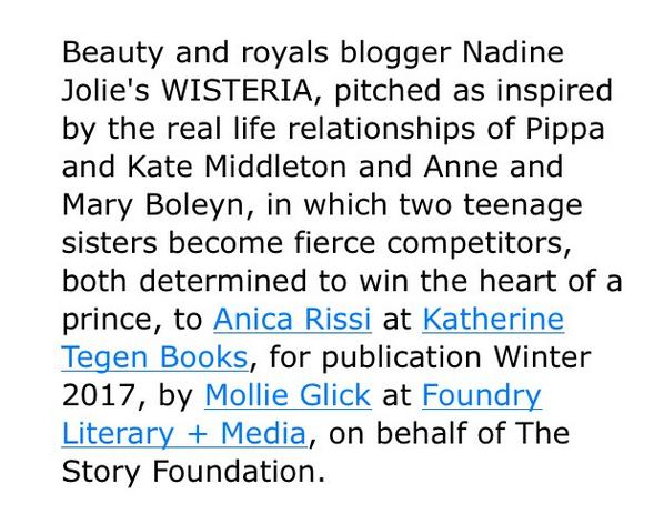 Nadine Jolie Courtney book deal