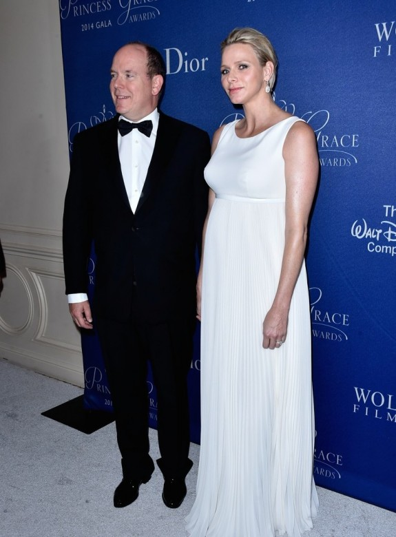 Princess Charlene pregnant with twins