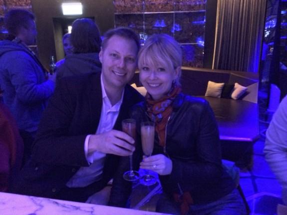 Erik and Nadine honeymoon Hong Kong Ozone bar