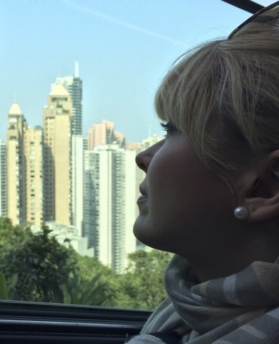 Nadine Jolie Courtney Hong Kong honeymoon The Peak