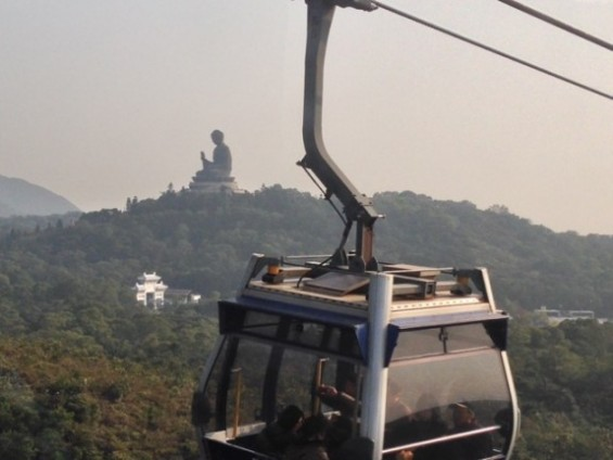 Ngong Ping glass bottom cable car Big Buddha