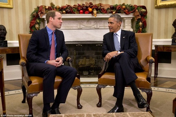 Prince William and Barack Obama DC