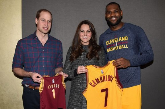 William and Kate meet Lebron