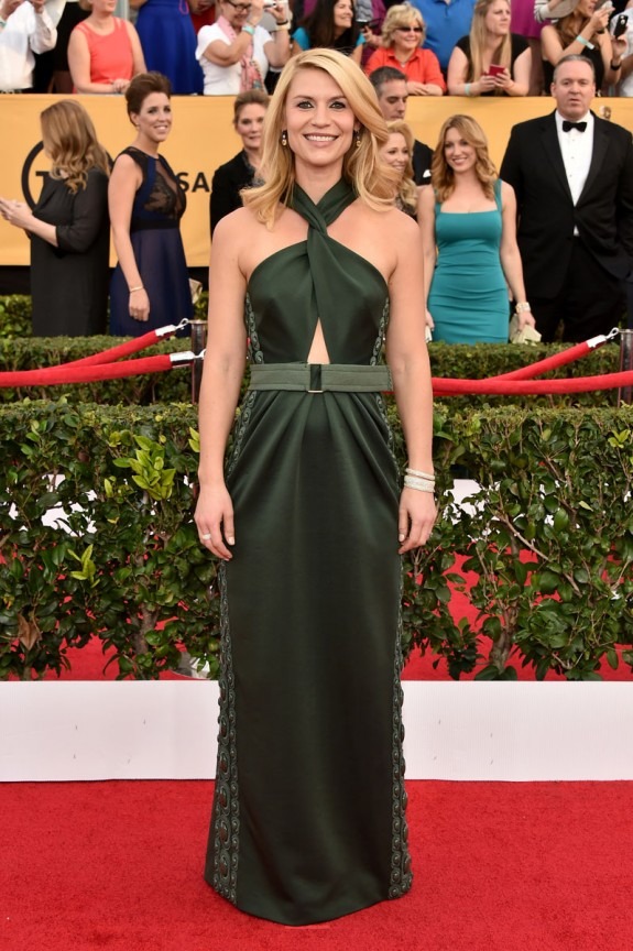 Claire Danes SAG awards 2015 Marc Jacobs green dress