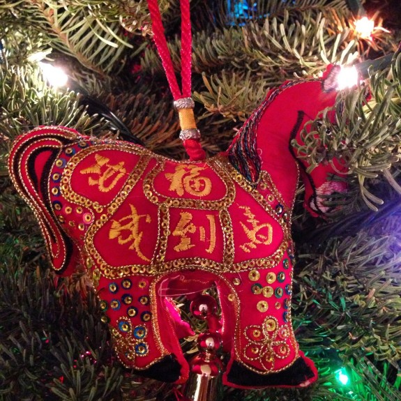 Year of the Horse christmas ornament