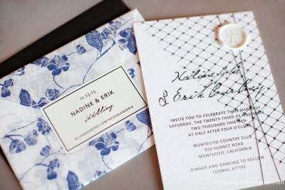 Bliss and Bone Nadine Jolie Courtney Newlyweds wedding invitations