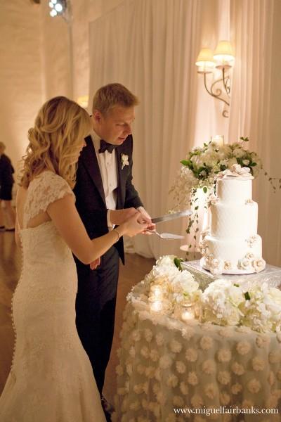 Erik and Nadine Newlyweds wedding cake