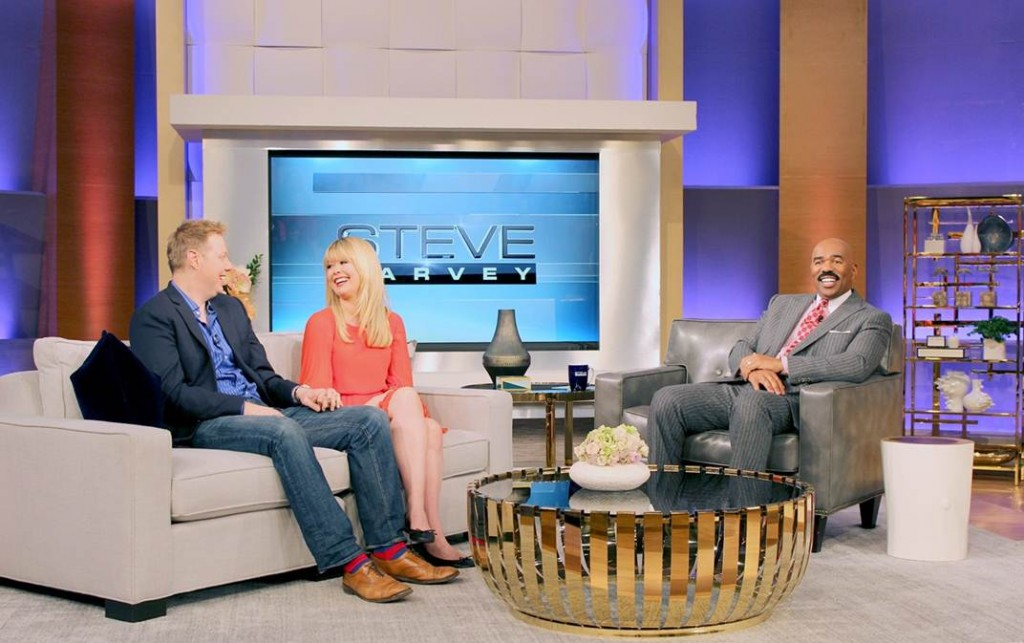 Erik and Nadine from Newlyweds on Bravo on Steve Harvey 2