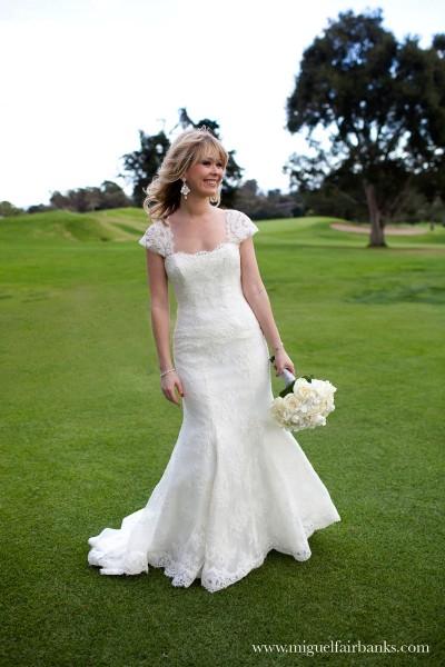 Nadine Jolie Courtney Newlyweds Monique Lhuillier wedding dress