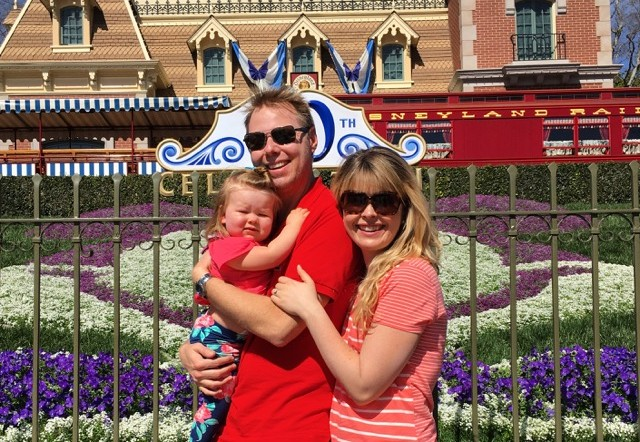 Nadine Courtney and Erik Courtney Disneyland